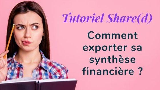 Tutoriel synthese financiere